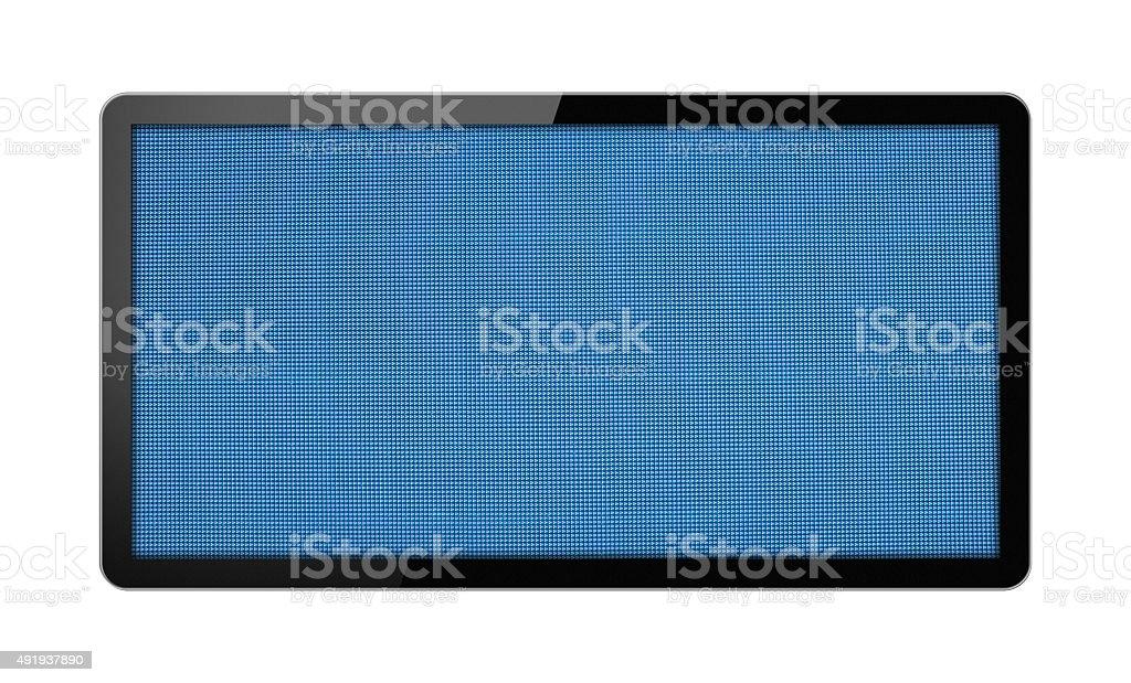 Blank electronic LED Billboard isolated on white background stock photo