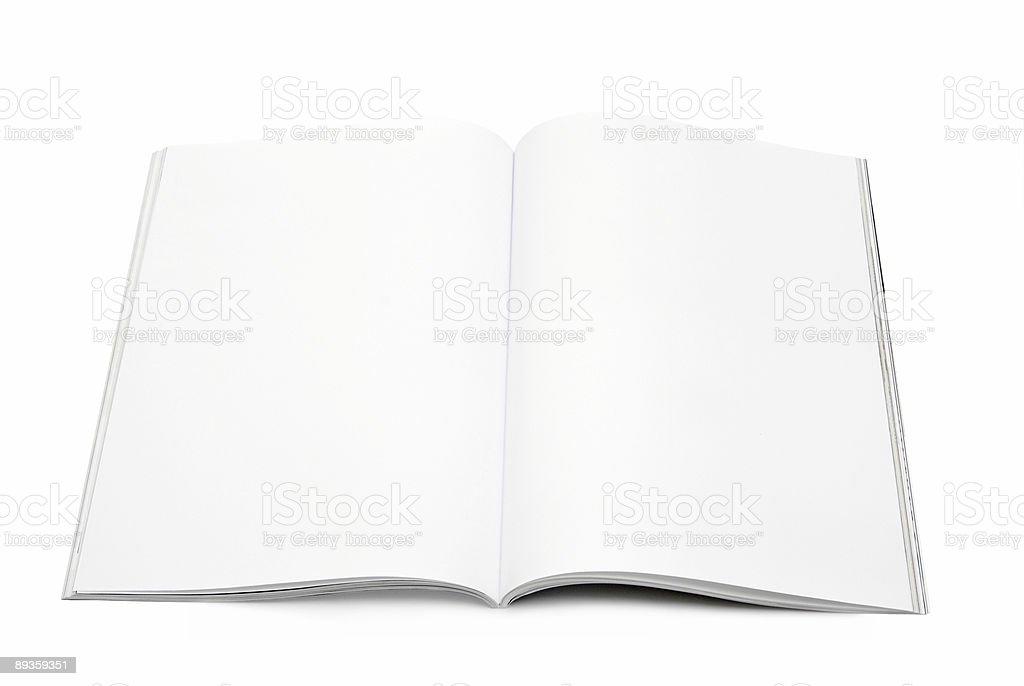 blank / empty magazine page stock photo