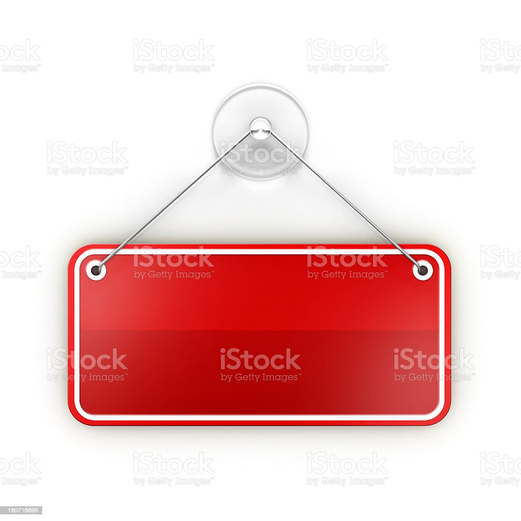 Blank empty Sticky red sign stock photo