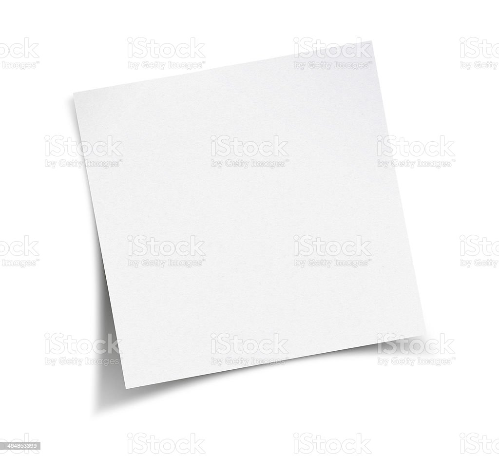 Blank empty white notepad on the wall stock photo