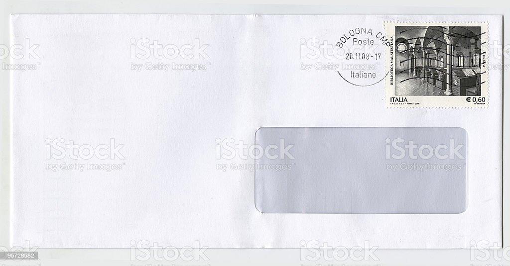 Enveloppe vide d'Italie photo libre de droits