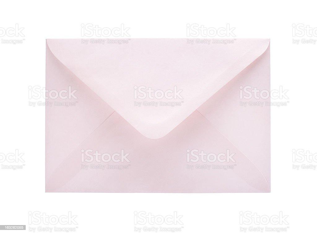 Blank envelope isolated on white background royalty-free stock photo
