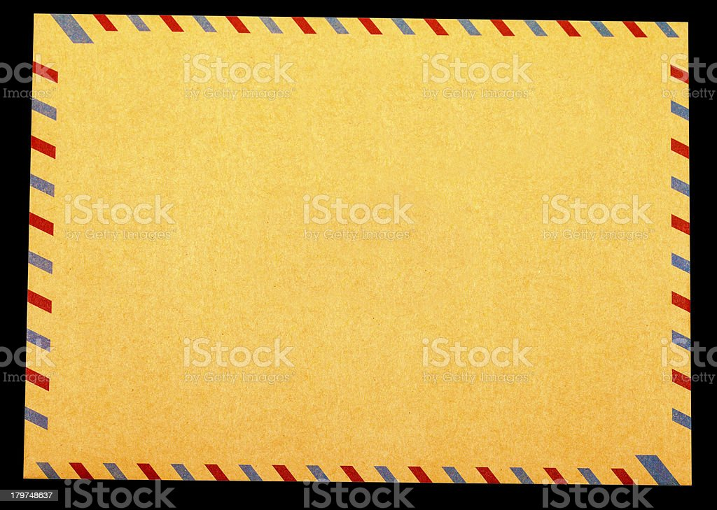 Blank envelope royalty-free stock photo