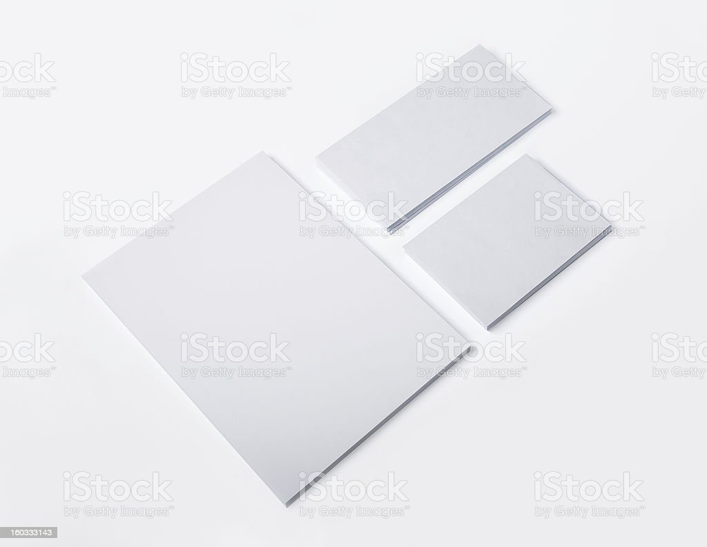 Blank Envelopes and document with soft shadows royalty-free stock photo