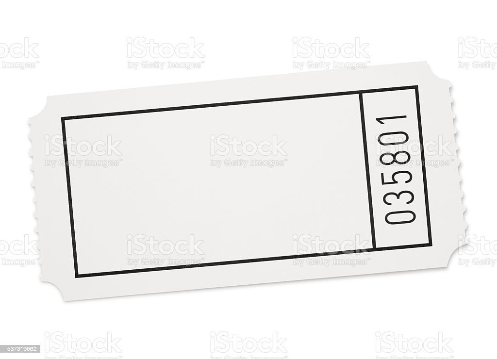 Blank Event Ticket (with path) stock photo