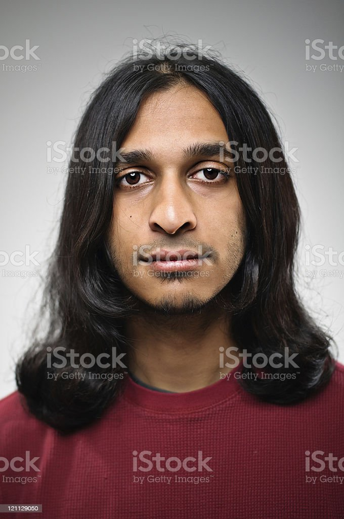Blank Expression Indian Man Portrait royalty-free stock photo