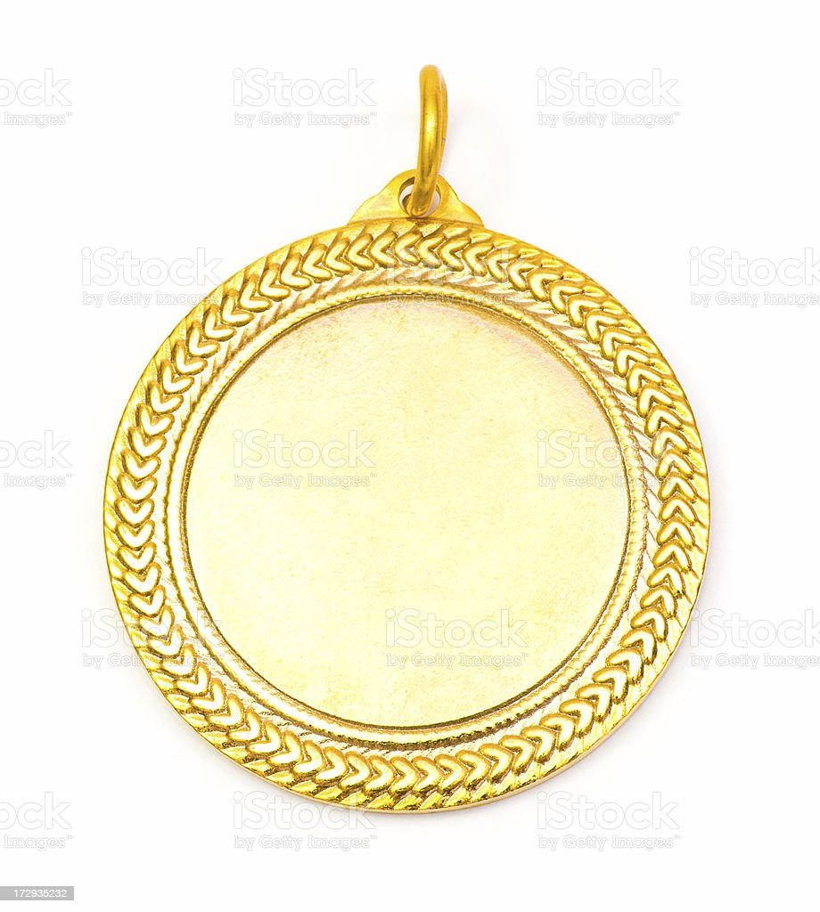 Blank Face Gold Medal royalty-free stock photo