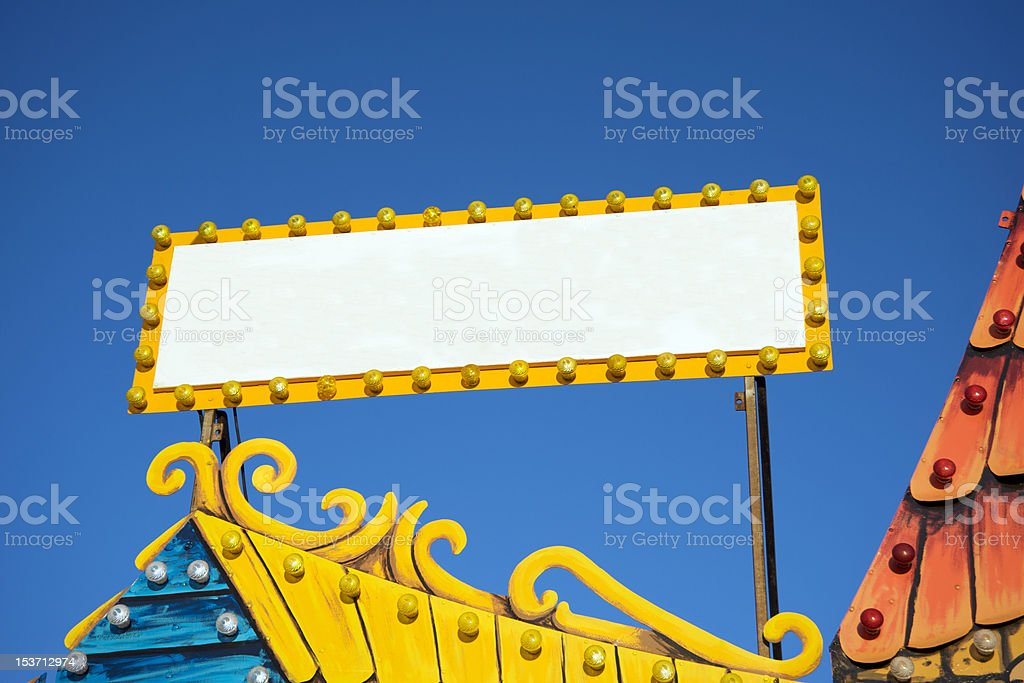 Blank fair sign royalty-free stock photo