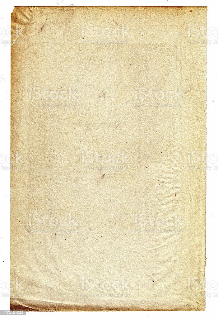 Aged featherweight paper. stock photo