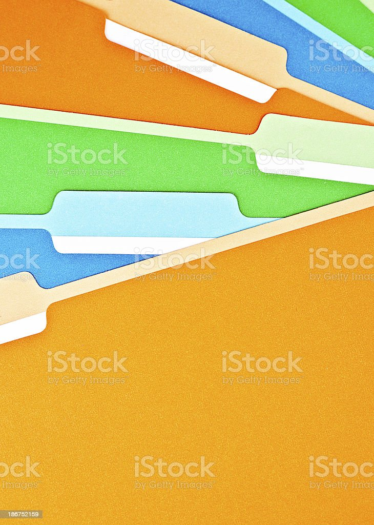 Blank File Folders stock photo