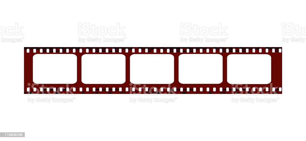 Blank Film Strip for Borders- add photos royalty-free stock photo