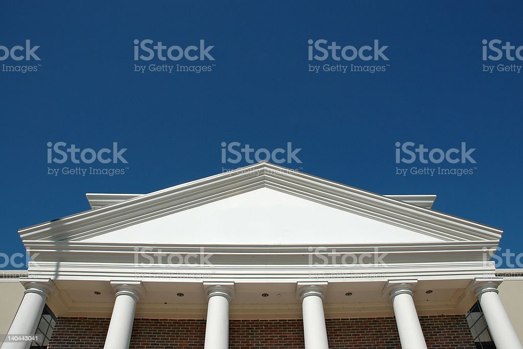 Blank Financial Building royalty-free stock photo