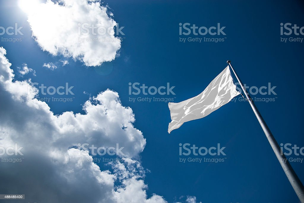 Blank Flag stock photo