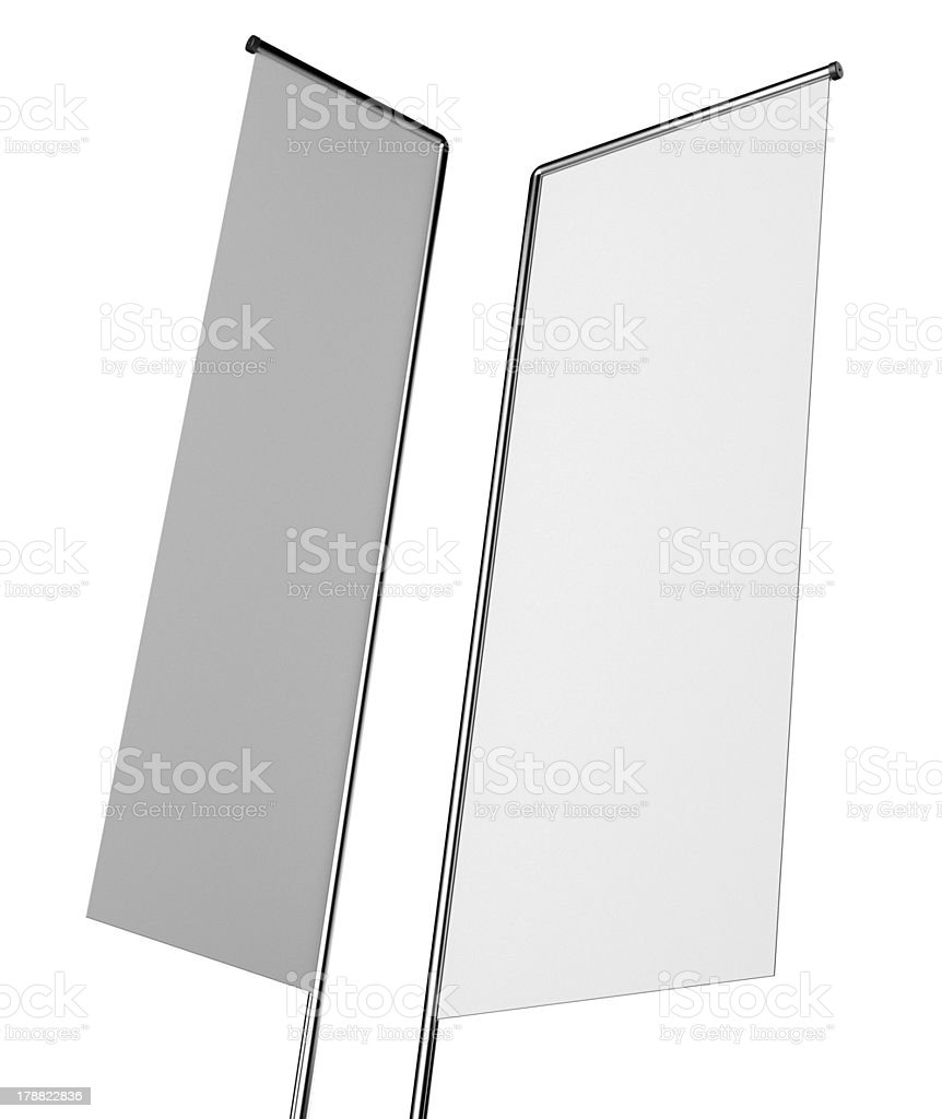 Blank flags or shelf-stoppers royalty-free stock photo