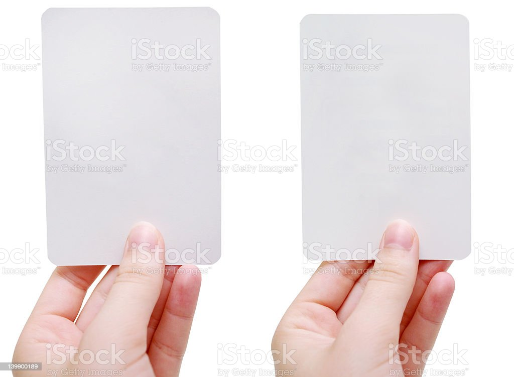 Blank flash cards royalty-free stock photo