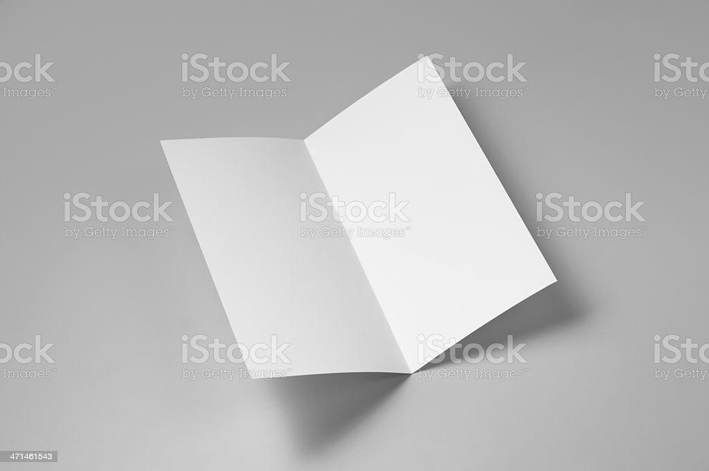 Blank flyer, 4-page, single fold stock photo