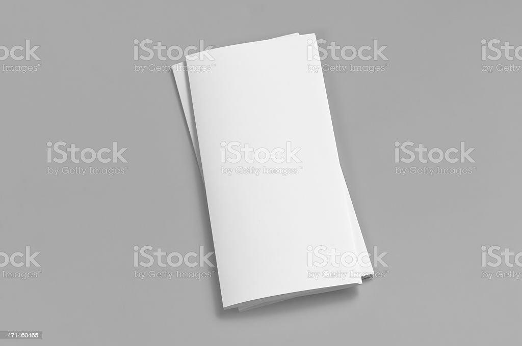 Blank flyer, 6-page, Z-fold (Accordion) stock photo