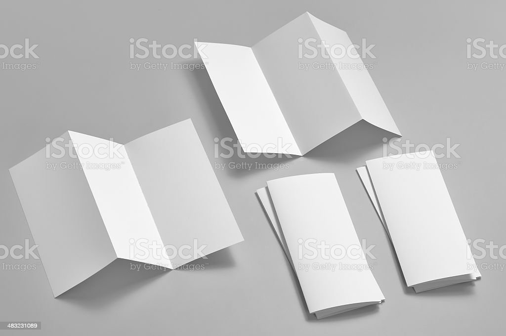 Blank flyer, 6-page, Z-fold (Accordion) royalty-free stock photo
