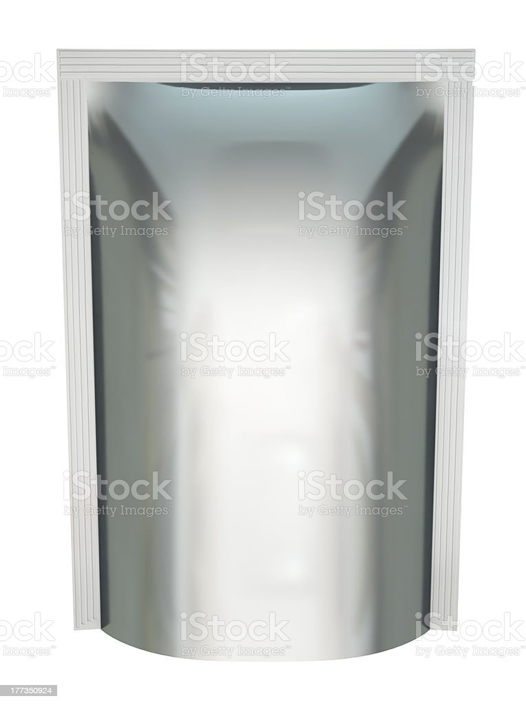 Blank foil packaging royalty-free stock photo