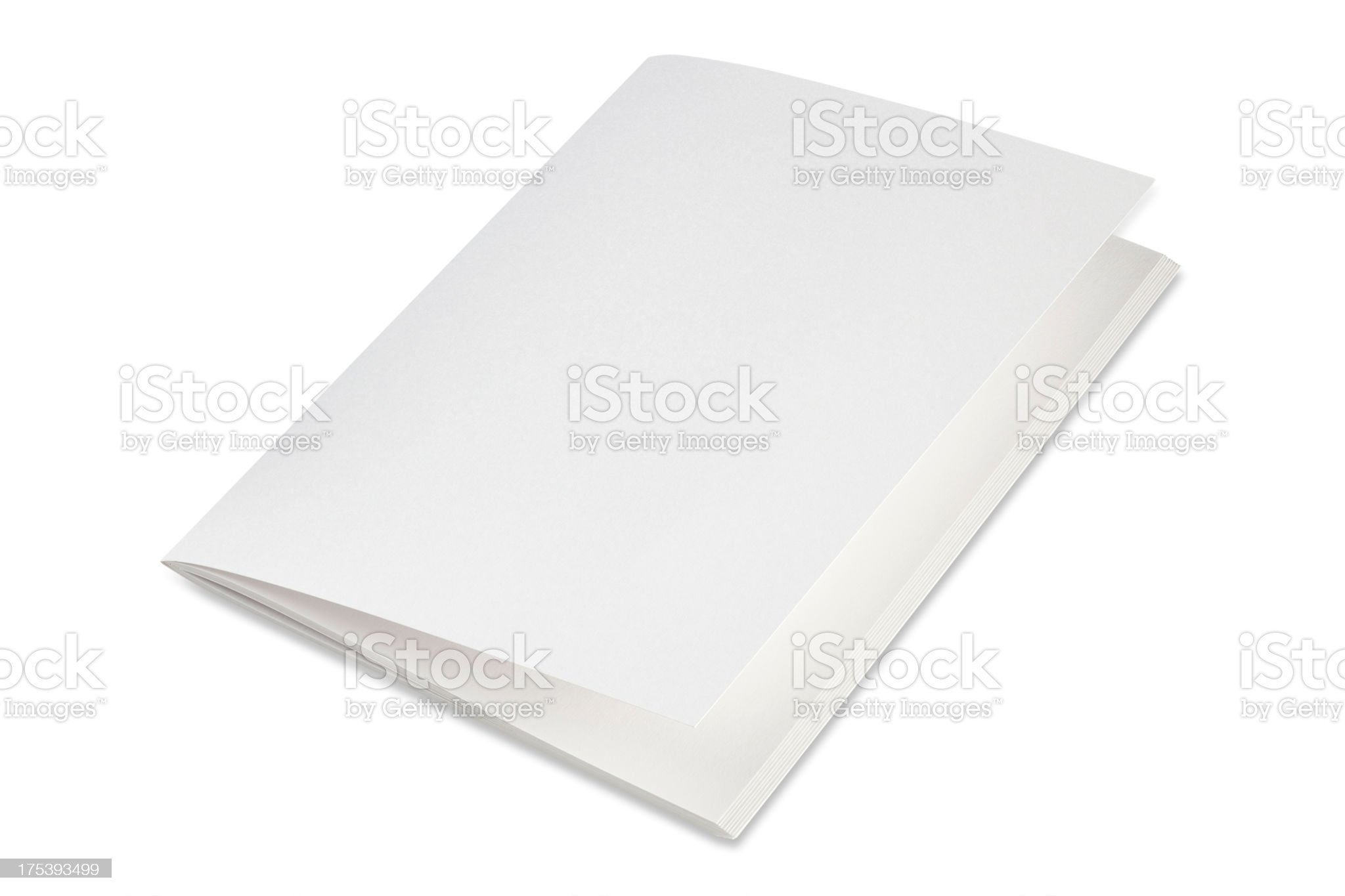 Blank folded brochure on a white background royalty-free stock photo