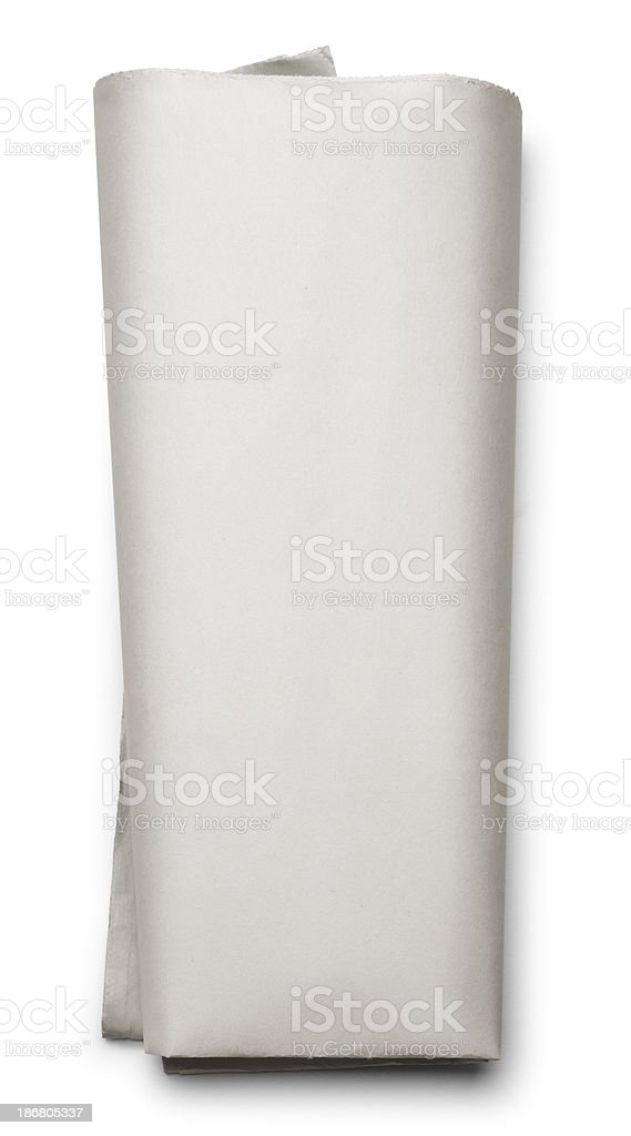 Blank Folded Newspaper stock photo