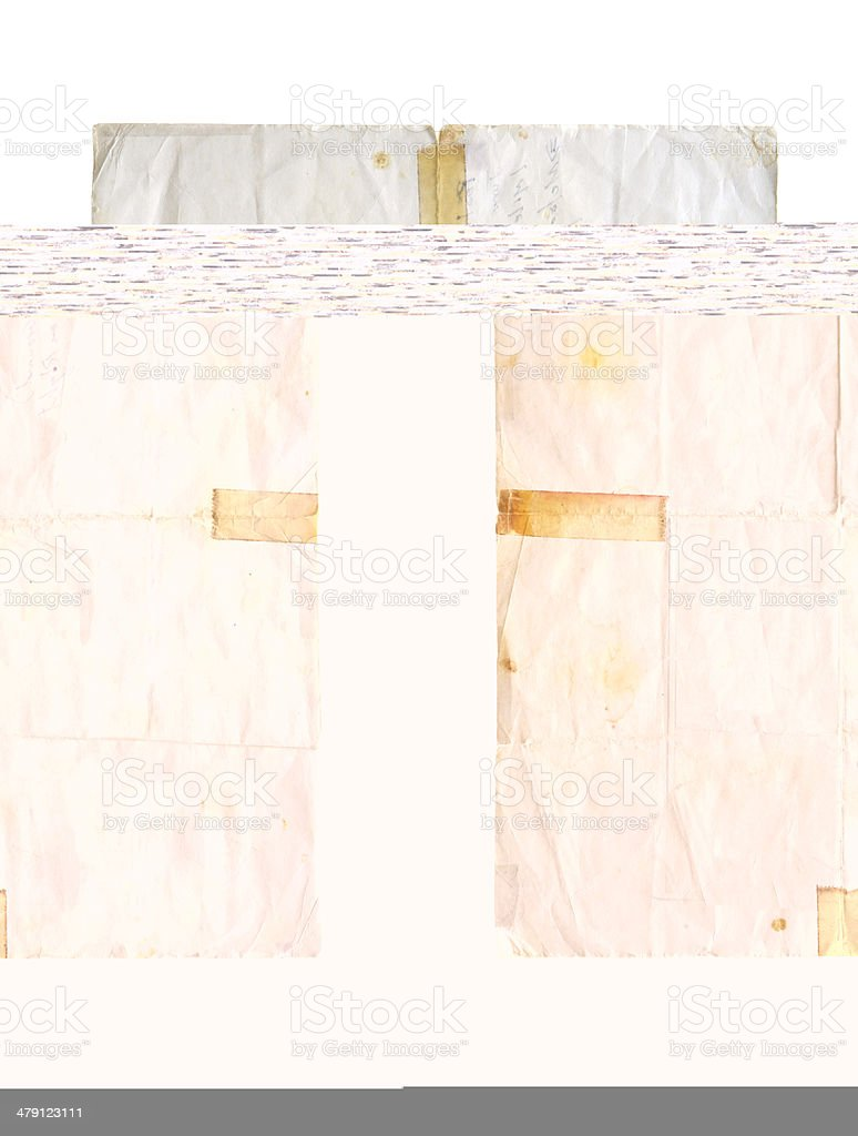 Blank Folded Poster Paper royalty-free stock photo