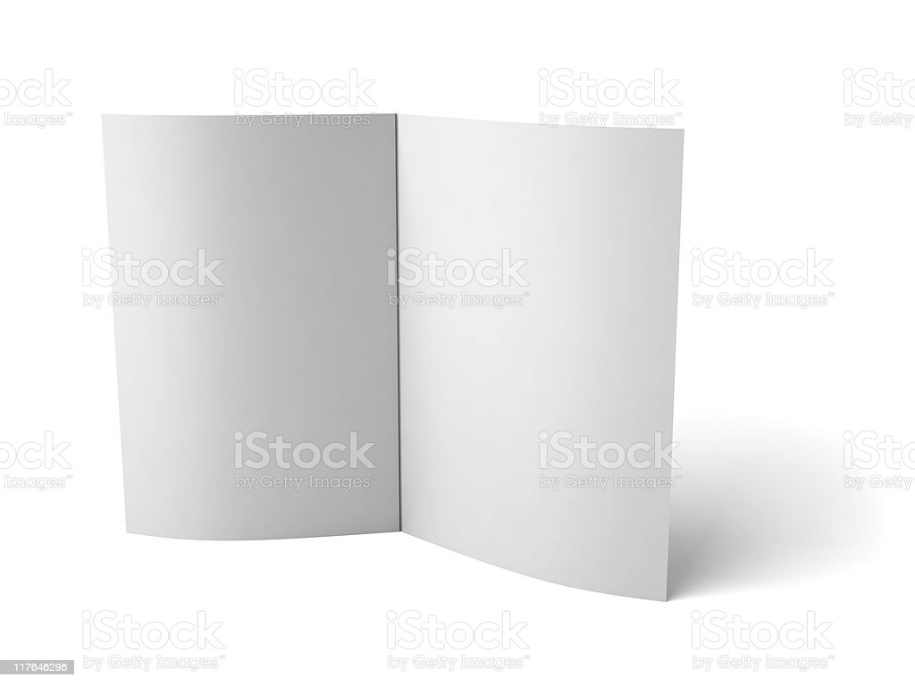 Blank folder with scoring royalty-free stock photo
