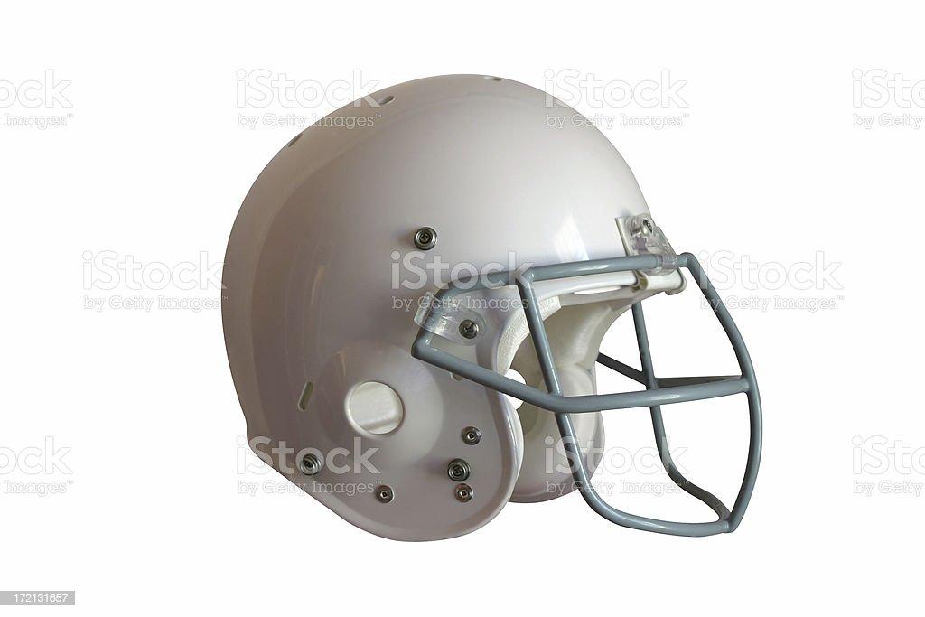 Blank Football Helmet Isolated on White royalty-free stock photo