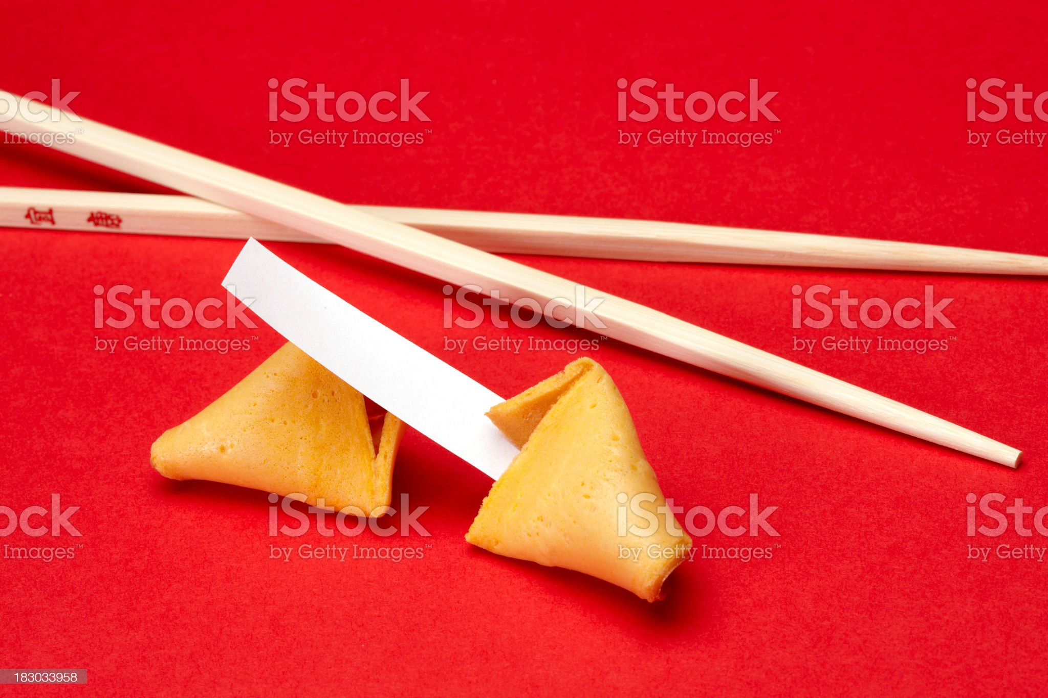 Blank fortune cookie royalty-free stock photo