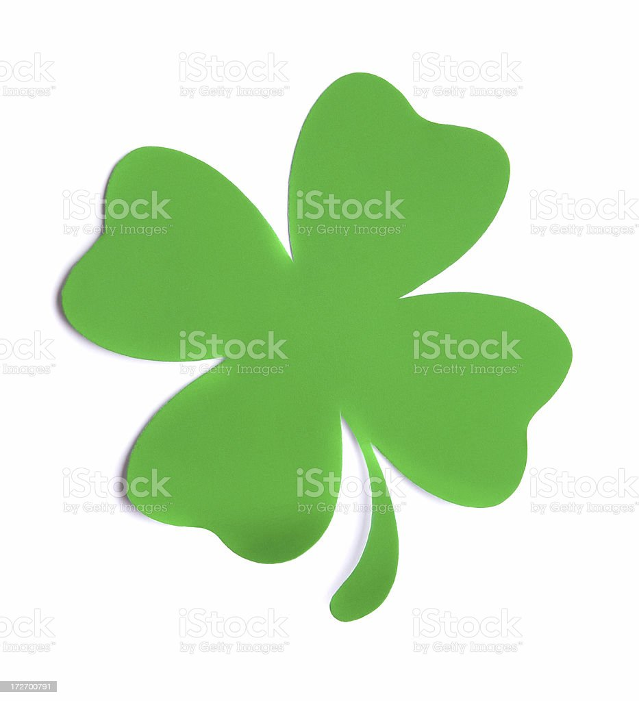 Blank Four Leaf Clover Note stock photo