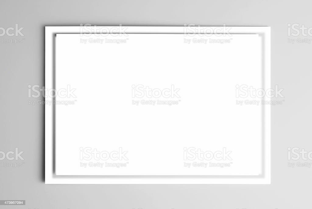 Blank frame card stock photo