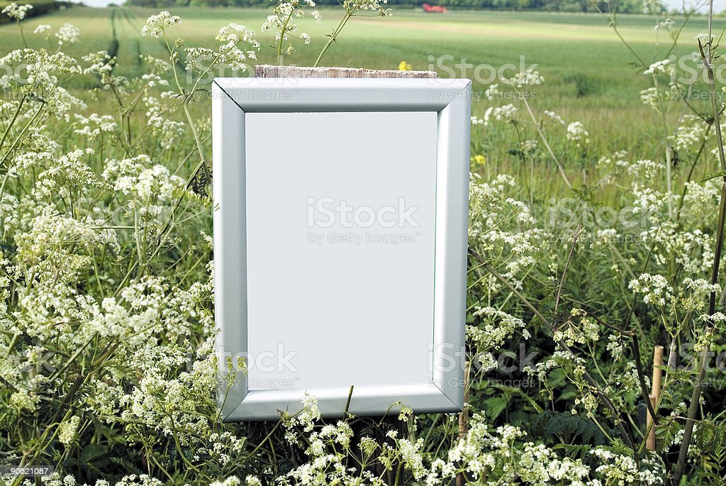 Blank frame in countryside royalty-free stock photo