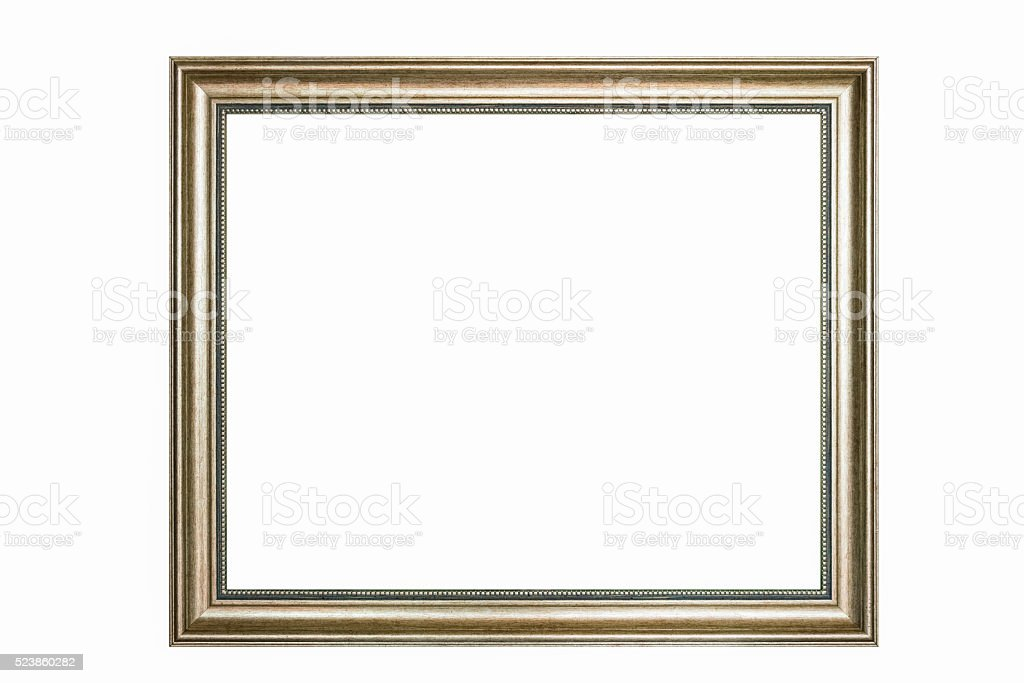 blank frame isolated stock photo