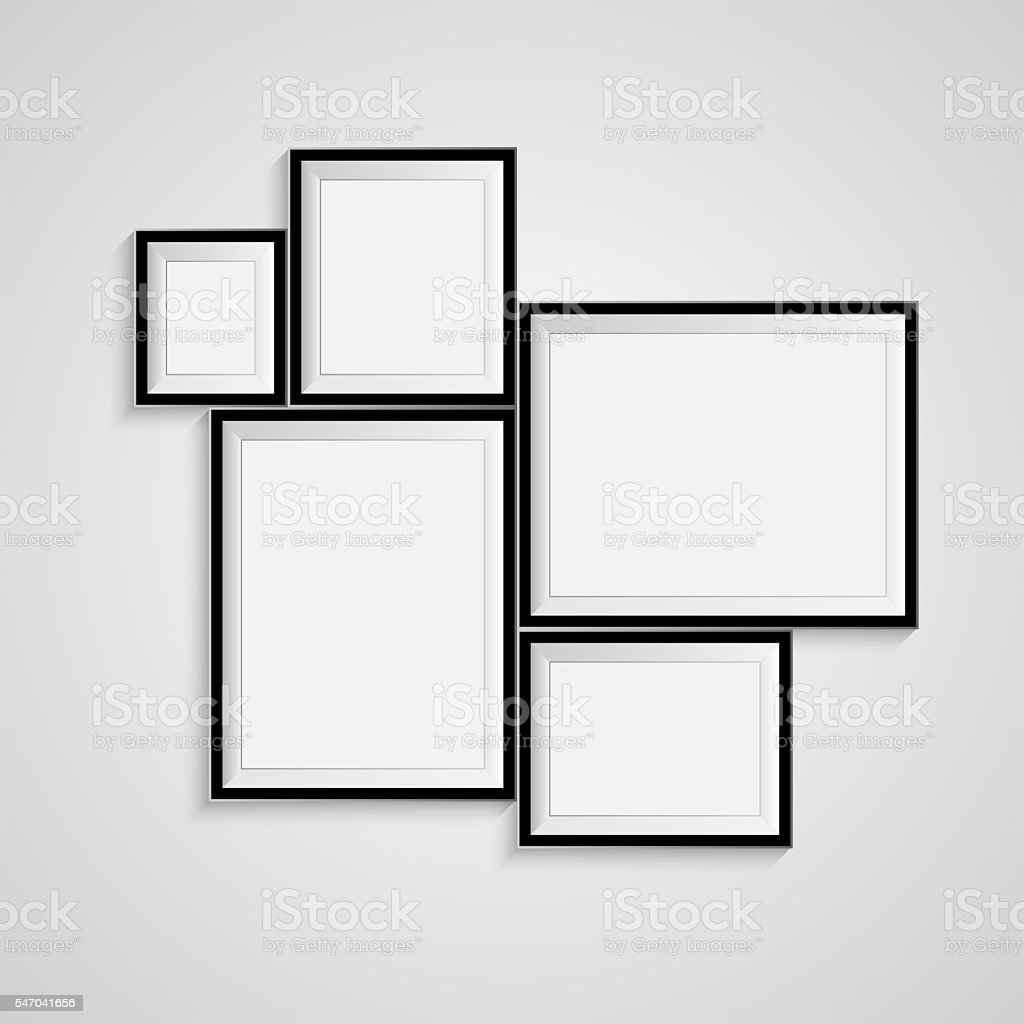 Blank frame on a white background. stock photo