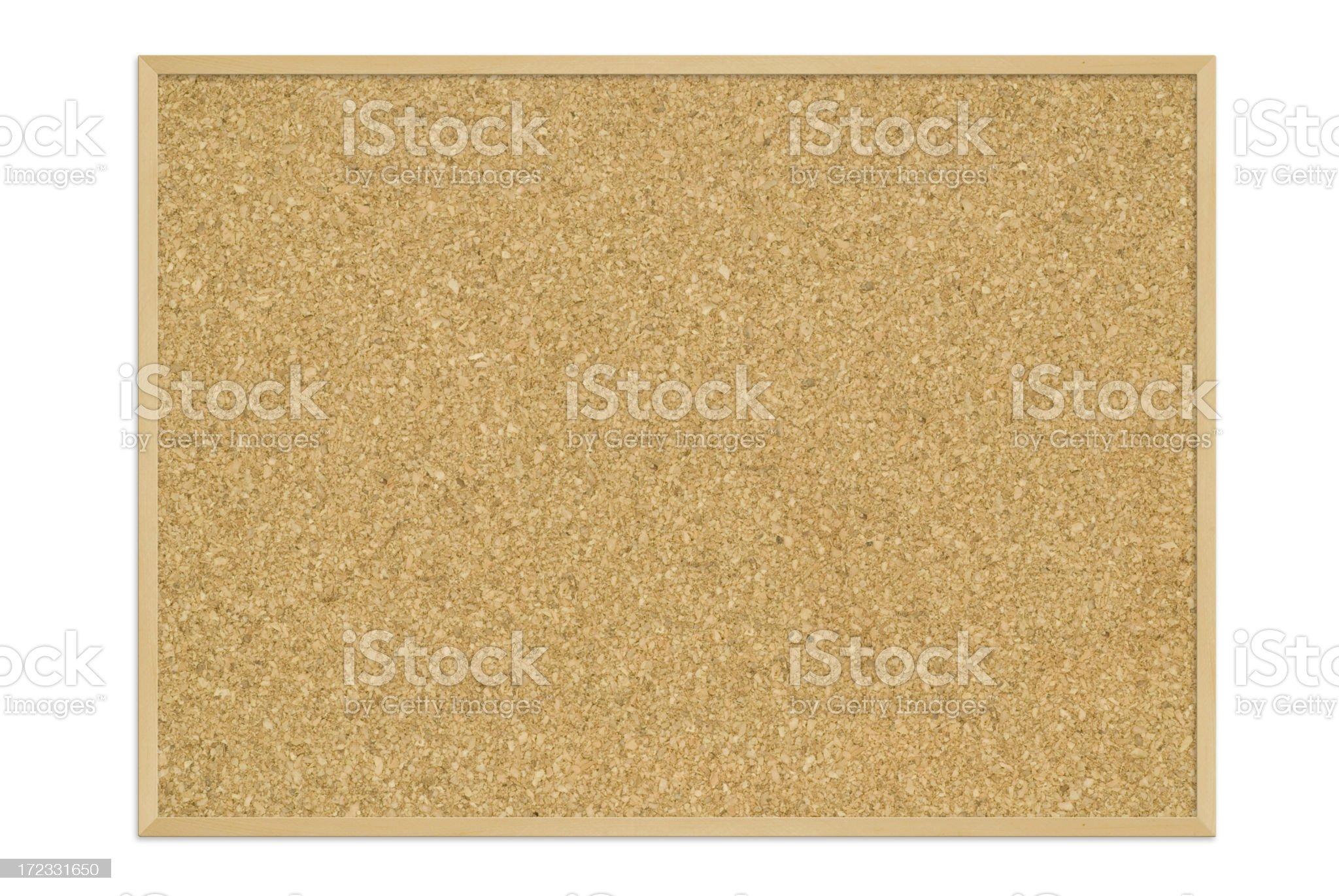 Blank framed cork board royalty-free stock photo