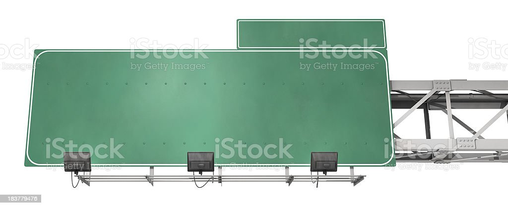 Blank freeway exit sign stock photo