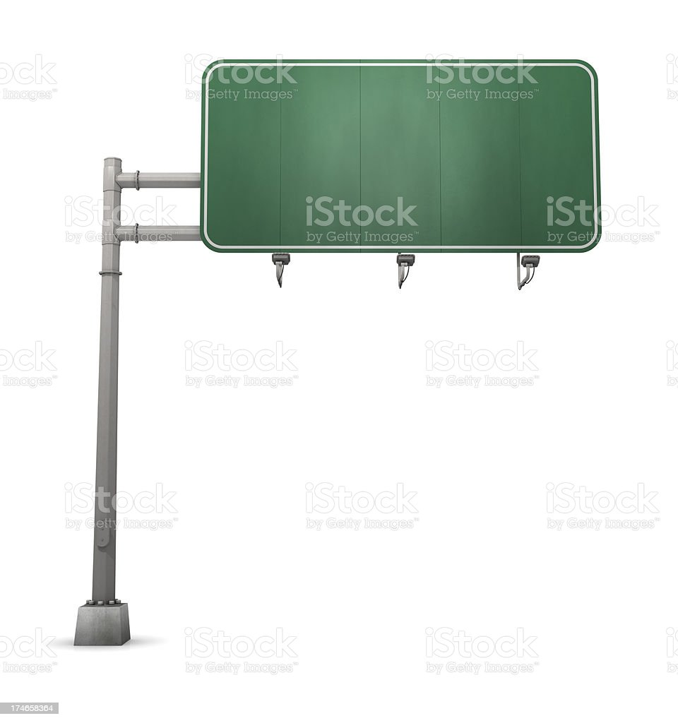 Blank Freeway Sign stock photo