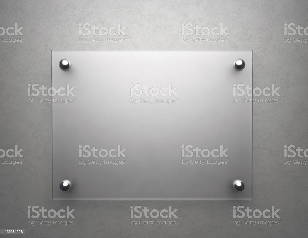 Blank frosted glass stock photo