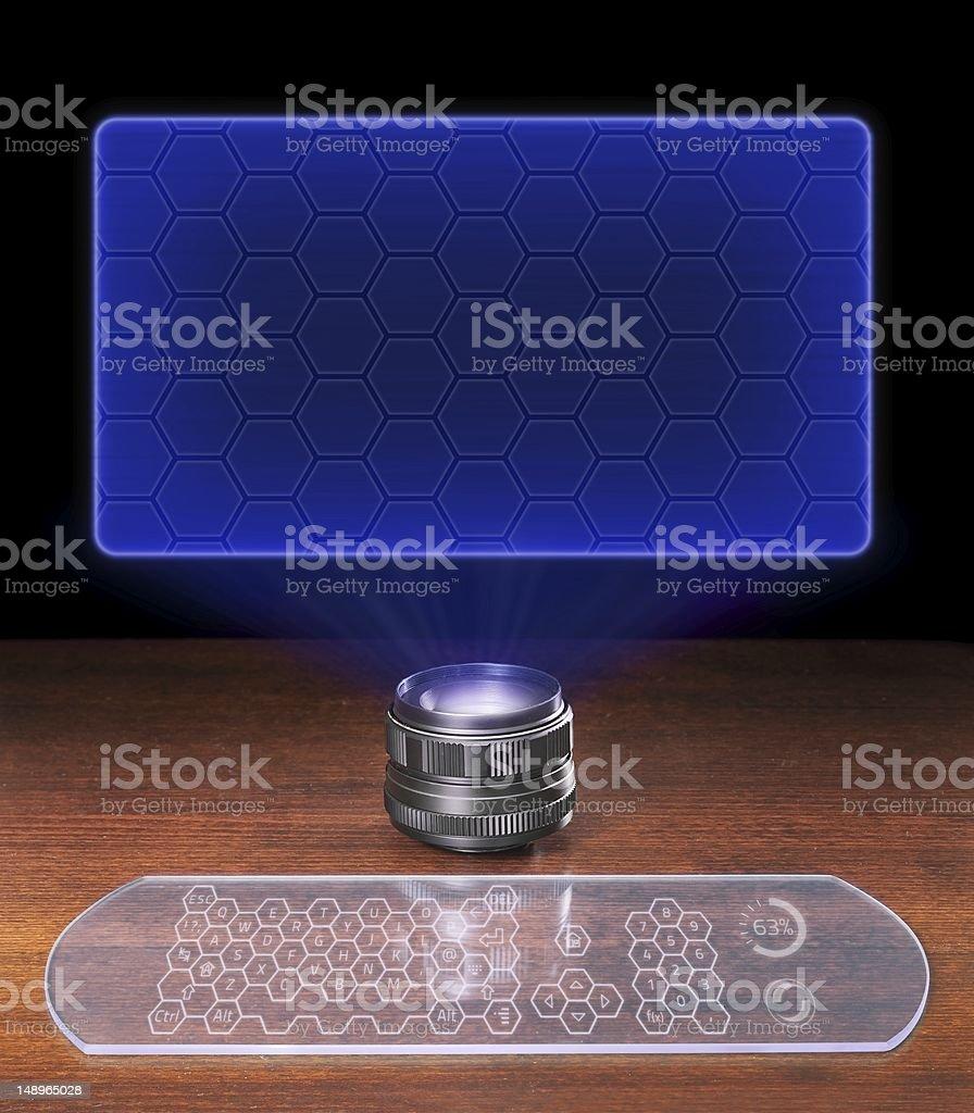 Blank futuristic screen stock photo