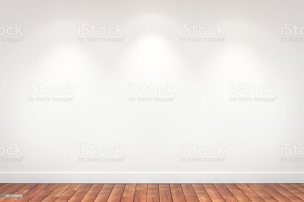Blank Gallery wall stock photo
