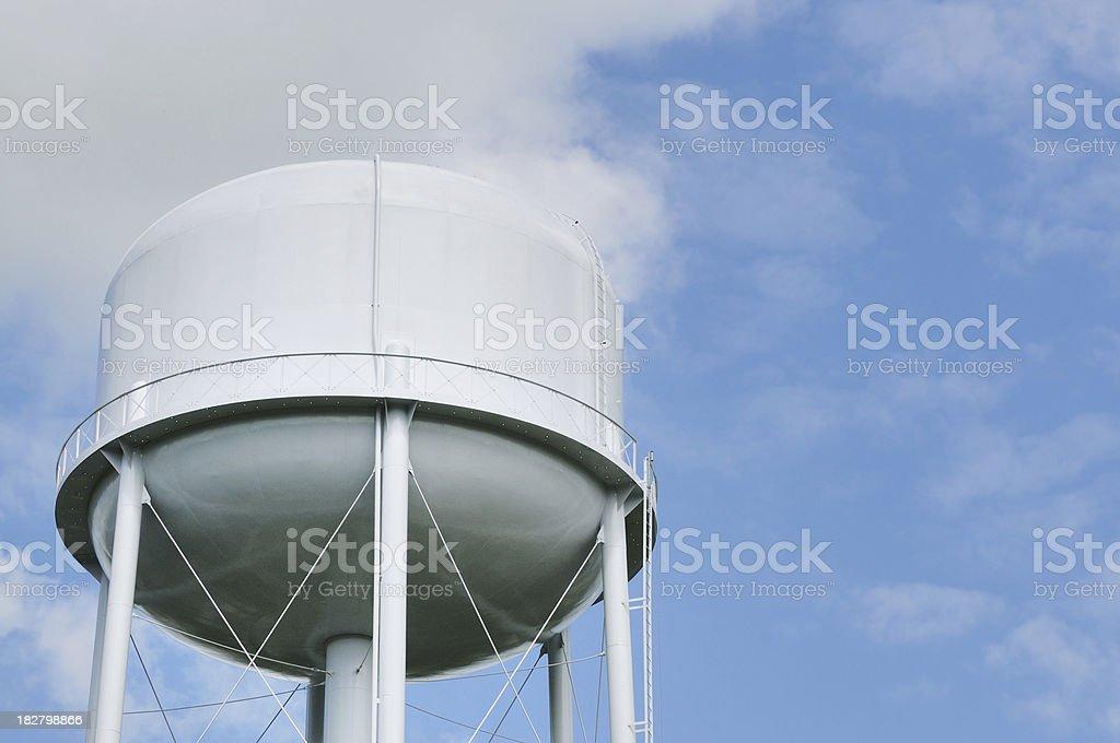 Blank Generic White Water Tower stock photo