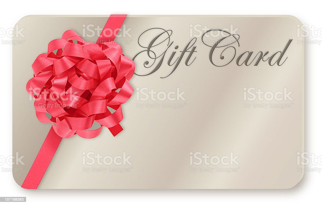 Blank Gift Card royalty-free stock photo