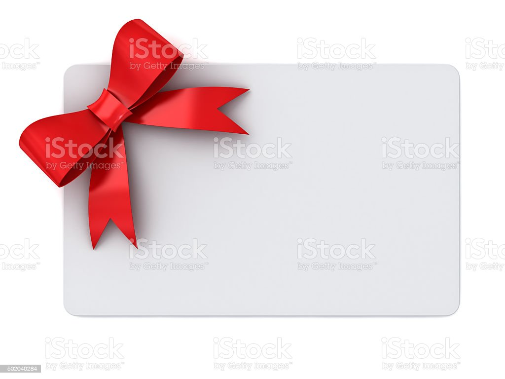 Blank gift card stock photo