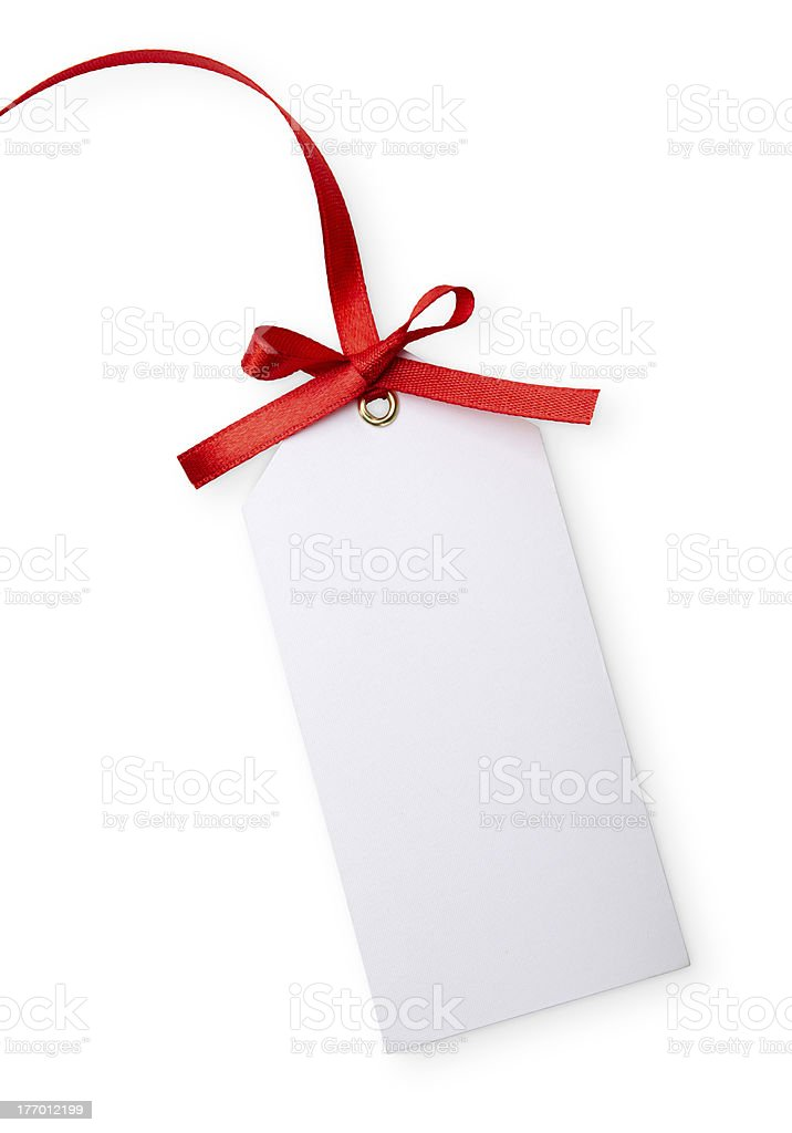 blank gift tag stock photo