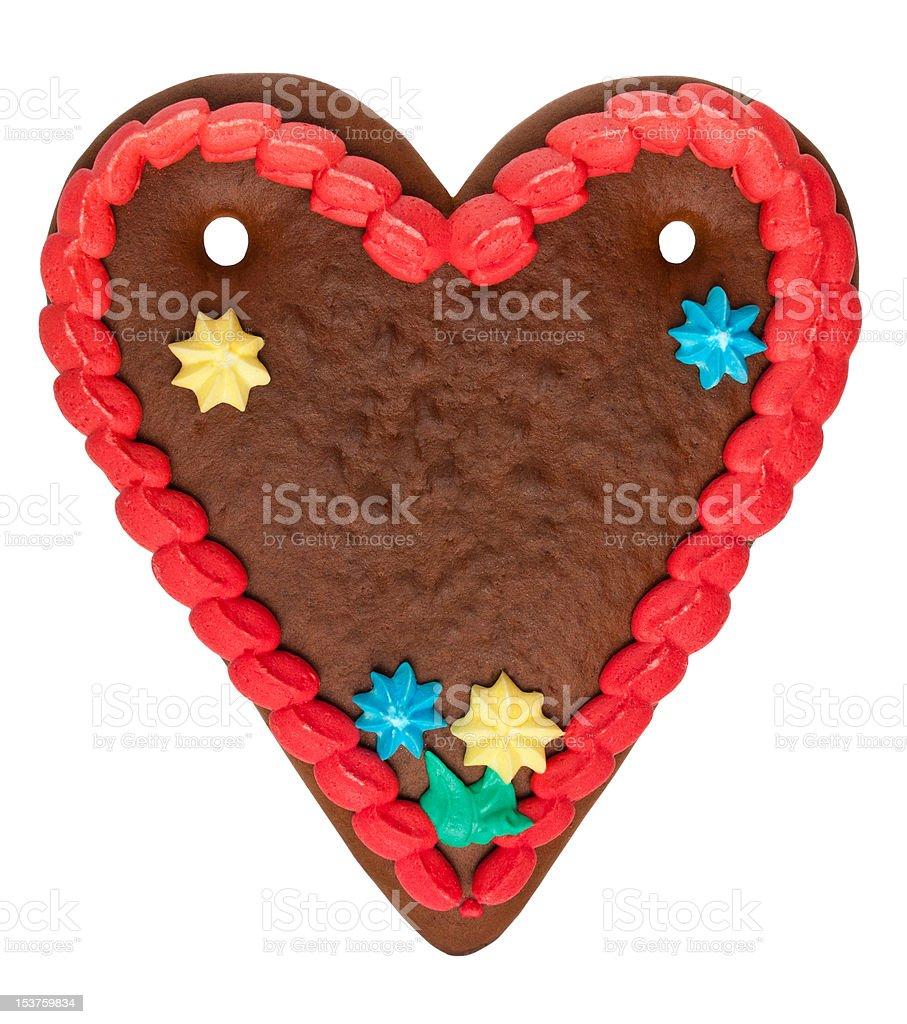Blank Gingerbread Heart royalty-free stock photo