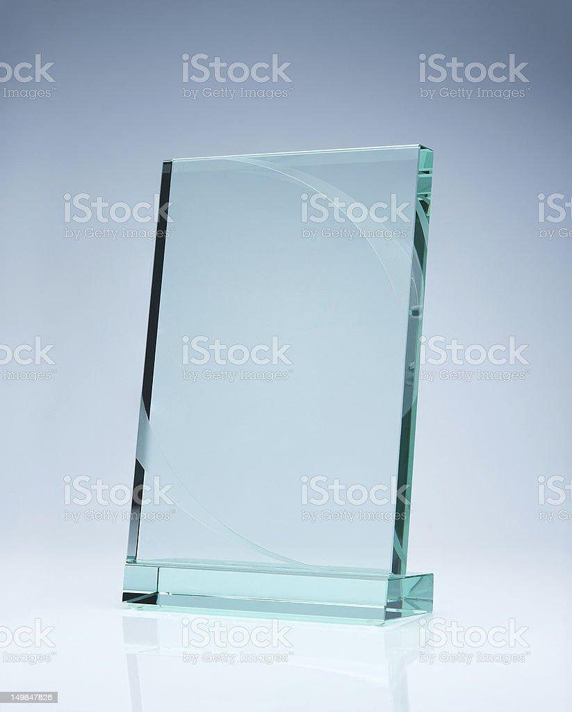 Blank glass award royalty-free stock photo