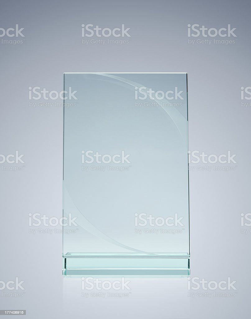 Blank glass award royalty-free stock photo