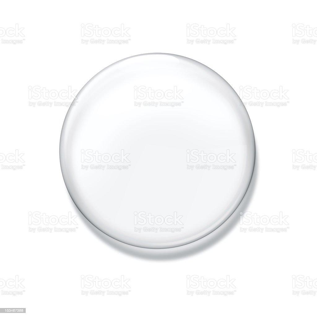 Blank glass badge royalty-free stock photo