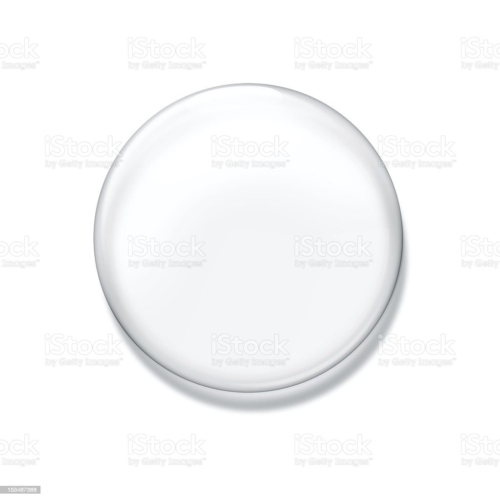 Blank glass badge stock photo