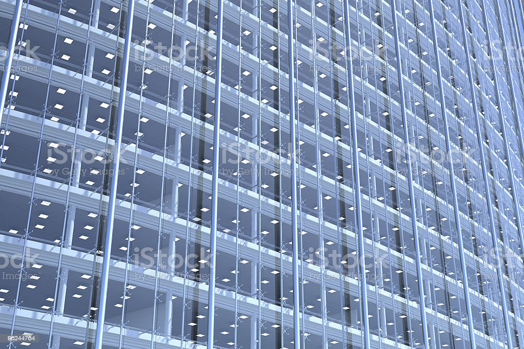 Blank glass facade of curved office building royalty-free stock photo